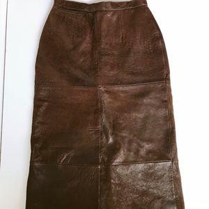 Dresses & Skirts - M. Julian Adventures vintage leather skirt size 10